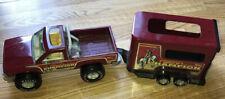 Vintage Nylint Red Metal Truck Quarter Horse Trailer Saddle Up Champion 80's