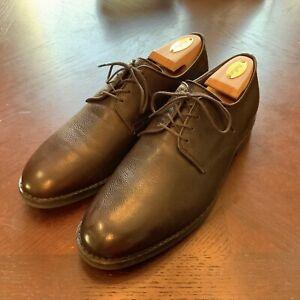 Allen Edmonds Brown Pebble Grain Derby Shoes - Size 9.5D