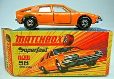 """Matchbox SF Nr.56A BMC Pininfarina orange breite Räder in """"I"""" Box"""