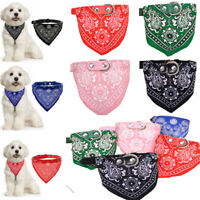 Dog Neck Scarf Bandana With Collar Adjustable Cat Pet Puppy Neckerchief UK