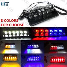 6 LED Car Truck Emergency Warning Dash Windshield Safety Flash Strobe Light 12V