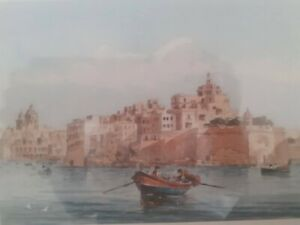 A Print Of The View of Senglia Point in the Grand Harbour Malta