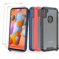 For Samsung Galaxy A21/A11/A71/A51 Shockproof Case Cover + Tempered Glass Screen