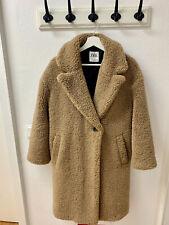 Zara Woman Teddymantel Mantel Jacke Kunstfell Lammfellimitat Faux Fur Gr M 38 40