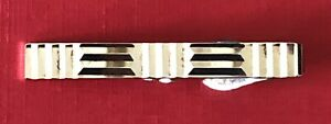 Vintage Swank MID CENTURY MODERN Sterling  Silver CUBES LINES Tie Clip Bar