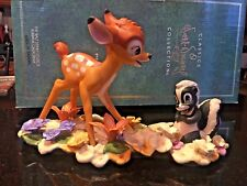 "RARE WDCC BAMBI & FLOWER ""He Can Call Me Flower If He Wants To"" plus Postcard"