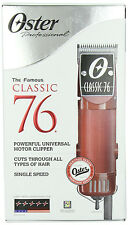 New Oster Professional Classic 76 Detachable Clipper with 2 Blades, #000 & #1