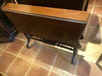 Antique Mahogany Drop Leaf Dining or Breakfast Table