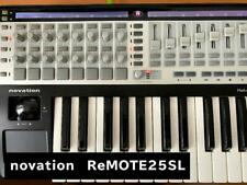 Novation ReMOTE 25 SL USB-MIDI Keyboard main unit box instruction manual used