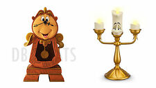 Beauty and the Beast Cogsworth Clock & Lumiere Light-Up Candlestick Disney Parks