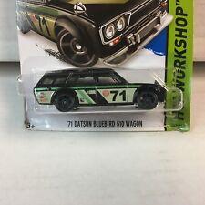 BAD CARD '71 Datsun Bluebird 510 Wagon * Hot Wheels Kmart Black * BLOWOUT * WG19