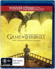 Game of Thrones HBO The Complete Fifth 5th Season Blu-ray R18 4 Disc Set