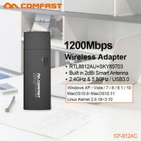 COMFAST Gigabit 1200Mbps USB 3.0 Dual Band 2.4G/5GHz Wireless WiFi AC Adapter