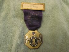 1931 Knights of Columbus Bloomington IL State Council Meeting Ribbon