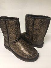 Ugg Women's Classic Short Glitter Boot Size 8 Color Brz