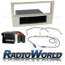 Vauxhall Astra H Stereo Radio Fascia Panel Single Din Iso Fitting Kit Champagne