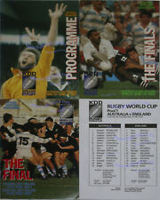 1987 RUGBY WORLD CUP SET OF PROGRAMMES NEW ZEALAND & AUSTRALIA