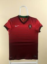 Portugal Women's 2014 Home Jersey World Cup Shirt Size S Soccer Football Red