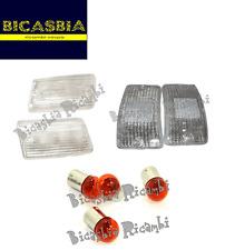 5839 SET GEMMES BLANCHE AVEC AMPOULES ORANGES VESPA 50 125 PK XL N V RUSH