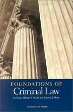 Foundations of Criminal Law (Foundations of Law), Leo Katz, Michael S. Moore, St