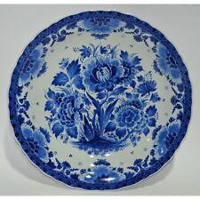 Large 16″ Vintage Hand Painted Blue & White Dutch Royal Delft Porceleyne Fles...
