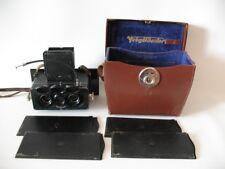 Rare Heidoscop Three-lens stereo camera w/Tessar lens 75mm f/4.5  No.54110