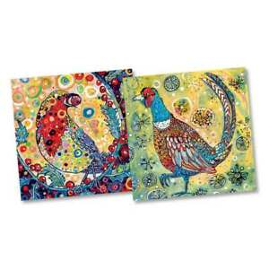 Robin and Pheasant Christmas Cards by Sally Rich 10 Card Pack 2 Designs