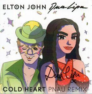 Dua Lipa Autograph - Cold Heart Signed Insert - New - AFTAL