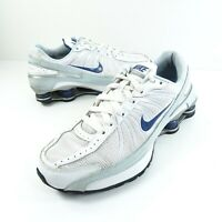 Nike Shox Turbo VII Shoes Youth Size 6Y Womens Size 7.5 Blue Silver 325067-141