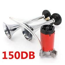24V 150db Air Horn Trumpet Train Car Truck Boat RV Super-loud Horn w/Compressor