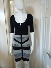 Karen Millen Black and Grey Knitted dress Size 1