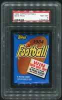 1984 Topps Football Wax Pack PSA 8 - Elway Marino Rookie ? - BRONCOS DOLPHINS