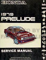 1979 Honda Prelude Shop Manual 79 Original Repair Service Book OEM