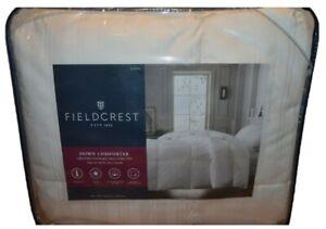 "NIP Fieldcrest ""Warmest"" Extra Warm Down Comforter True White Queen 92"" x 96"""