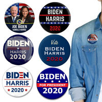 6 Pcs/set 46th US President Biden Harris Buttons 2020-Joe Biden & Kamala Harris