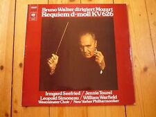 MOZART Requiem BRUNO WALTER IRMGARD SEEFRIED JENNIE TOUREL LEOPOLD SIMONEAU LP