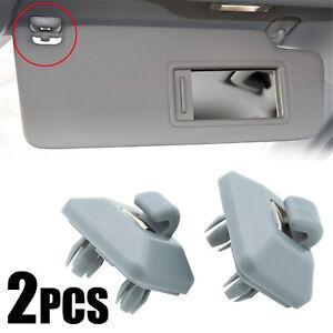 2Pcs Sun Visor Clip Hook Gray 8U0857562A For Audi A3 A4 A5 Q3 Q5 B8 S4 S5 TT