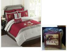 Mulberry 6 Pc. Queen Size Comforter Set, Red/ Cream/ Tan
