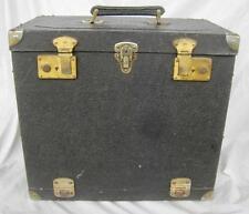 Vintage Cheney UK Locks Sirio Box Large Field Hard Camera Case Front Opens Black