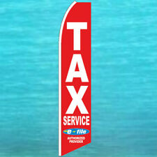TAX SERVICE IRS E-FILE FLUTTER FLAG Tall Advertising Sign Feather Swooper Banner
