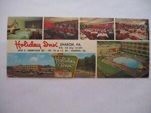 Circa mid late 1960s Holiday Inn, Sharon, PA Postcard
