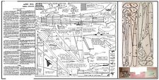 AVRO 707A VULCAN PROTOTYPE FREE FLIGHT JETEX MODEL PLAN AND PARTS PATTERNS
