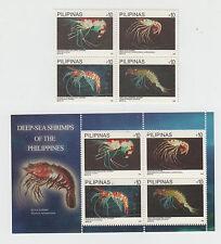 Philippine Stamps 2013 Deep-Sea Shrimps Complete Set, MNH