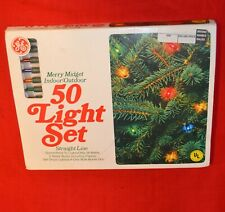 VINTAGE CHRISTMAS GE MERRY MIDGET 50 LIGHT SET