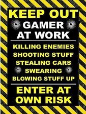 KEEP OUT GAMER A Vintage Retro Metal Tin Sign Poster Plaque Garage Wall Decor A4