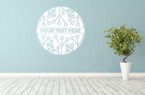 Custom Florist Flower Garden Centre Shop Wall Window decal sticker art Any size
