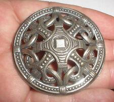 large rare antique Norwegian David Andersen Silver 925S dragestil brooch pendant