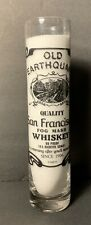 Old Earthquake San Francisco Fog Mash Whiskey Barware Tall Shot Glass Rare HTF