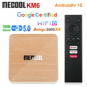 MECOOL KM6 DELUXE Android 10.0 TV-Box 4+64GB 4K BT5.0 Amlogic S905X4 2T2R WiFi