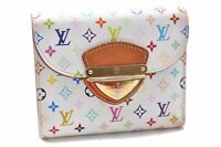 Auth Louis Vuitton Monogram Multicolor Portefeuille Koala Wallet White LV A6933